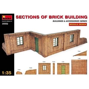 Miniart . MNA 1/35 Sections of Brick Building Module Design