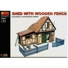 Miniart . MNA 1/35 SHED W/WOODEN FENCE