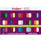 Sculpey/Polyform . SCU SCULPY SAMPLER 1OZ X 30 COLORS