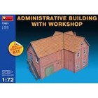 Miniart . MNA 1/72 ADMIN BUILDING W/WORKSHOP