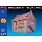 Miniart . MNA 1/72 BUILDING W/GARAGE