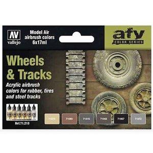 Vallejo Paints . VLJ Wheels & Track Color Set
