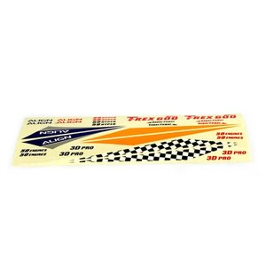 Align RC . AGN (DISC) - CANOPY DECAL 600N