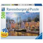 Ravensburger (fx shmidt) . RVB Ships Aglow 500Pc Puzzle