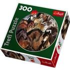 Trefl (puzzles) . TRF Horses 300Pc Round Puzzle