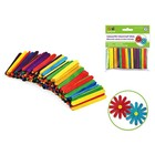 "MultiCraft . MCI 2 1/8 X 1/4"" Mini Multi Colored Craft Sticks 150Pk"