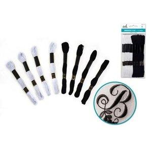 MultiCraft . MCI Cotton Floss 8M Black & White Mix
