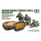 Tamiya America Inc. . TAM 1/35 German Assault Pioneer Team & Goliath Set