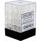 Chessex . CHX Chessex Translucent Dice 36D6 Clear / White