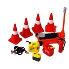 Phoenix Toys . PHO 1/24 Roadside Accessories: Cones, Jack, Cables, Gas/Oil Containers, Battery