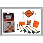 Phoenix Toys . PHO 1/24 Construction Accessories: Caution Sign, Tool Box, Cooler, Generator, Shovels, Broom, Sledge Hammer, Pick Axe)