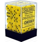 Chessex . CHX Opaque: 36D6 Yellow / Black Dice