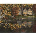 "Plaid (crafts) . PLD Autumn Reflections (Lakeside Cottage) Paint by Number (20""x16"")"