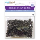 MultiCraft . MCI Black Barrel Pony Beads 6mmX9mm 175/Pkg