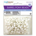 MultiCraft . MCI White Barrel Pony Beads