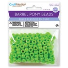 MultiCraft . MCI Kelly Green Barrel Pony Beads