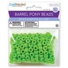 MultiCraft . MCI Kelly Green Barrel Pony Beads