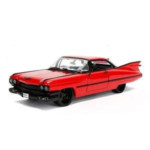 Jada Toys . JAD 1/24 1959 Cadillac DeVille - Red