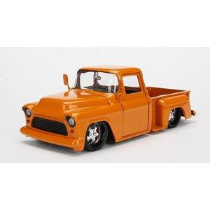 Jada Toys . JAD 1/24 1955 Chevy Stepside - Metallic Orange