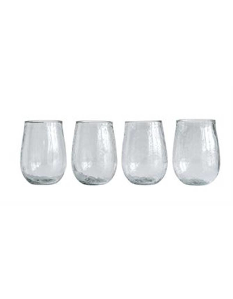 Stemless Wine Glass  Recycled Glass Set of 4