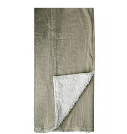 Sand-Washed Beige Throw