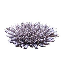 Chive Fractal Lilac Coral Ceramic Flower