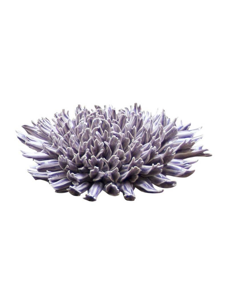 Chive Fractal Lilac Coral Ceramic Flower