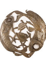 Beyond Borders New Fishes Lid Metal Wall Art