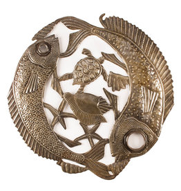 New Fishes Lid Metal Wall Art