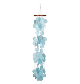 Capiz Waterfall Windchime  Azure
