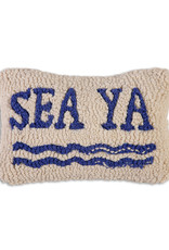 Sea Ya Hand Hooked Pillow