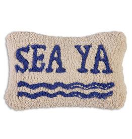 Sea Ya Hand Hooked Pillow