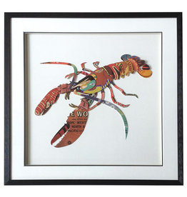 Lobster Collage Painting Framed