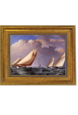 Yachts Rounding the Mark Painting