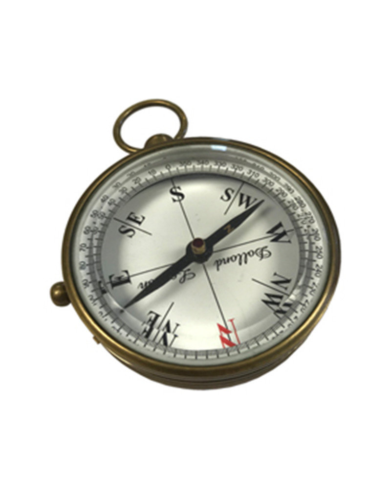 Brass Compass with Beveled Glass