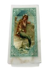 White Stone Box with Mermaid