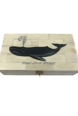 Bone Box with  Humpback Whale