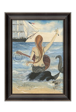 Lets Rock Mermaid Framed Print