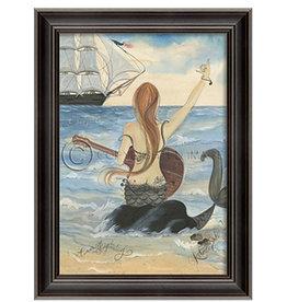 The Artwork of Kolene Spicher Lets Rock Mermaid Framed Print