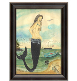 I've Been Spotted Mermaid Framed Print