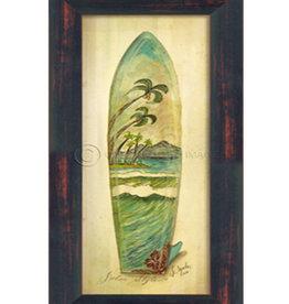 The Artwork of Kolene Spicher Small Palm Surfboard Framed Print