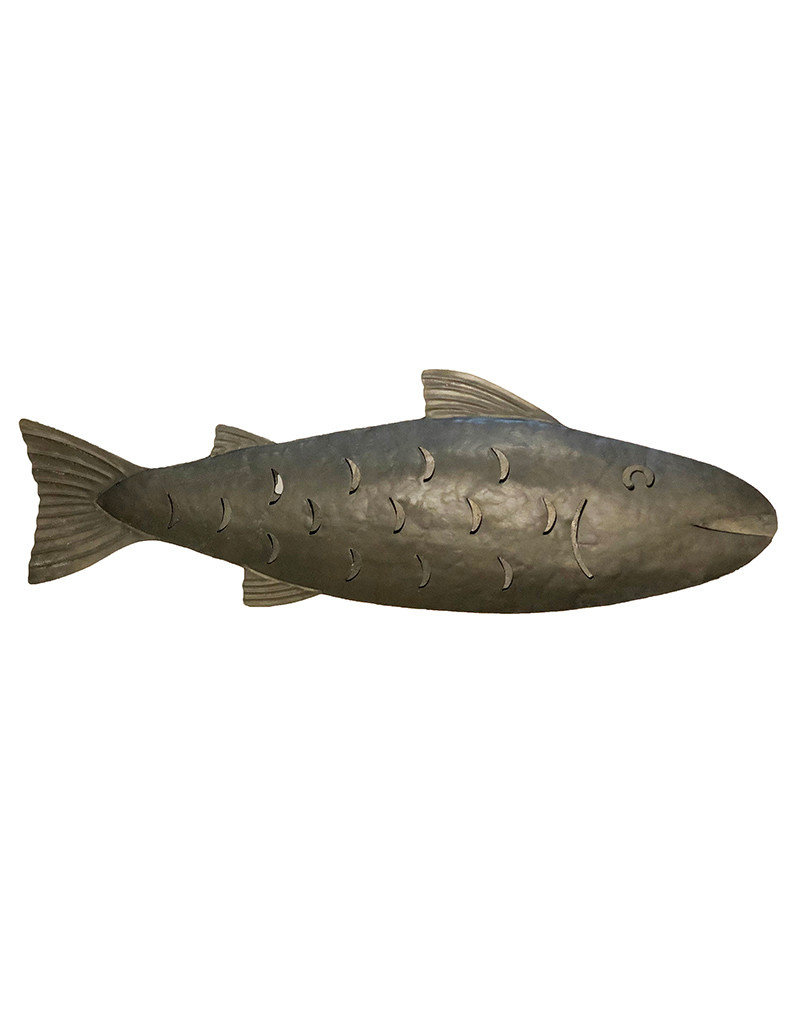 Galvanized Metal Fish Large