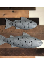 eangee home design Galvanized Metal Fish Large