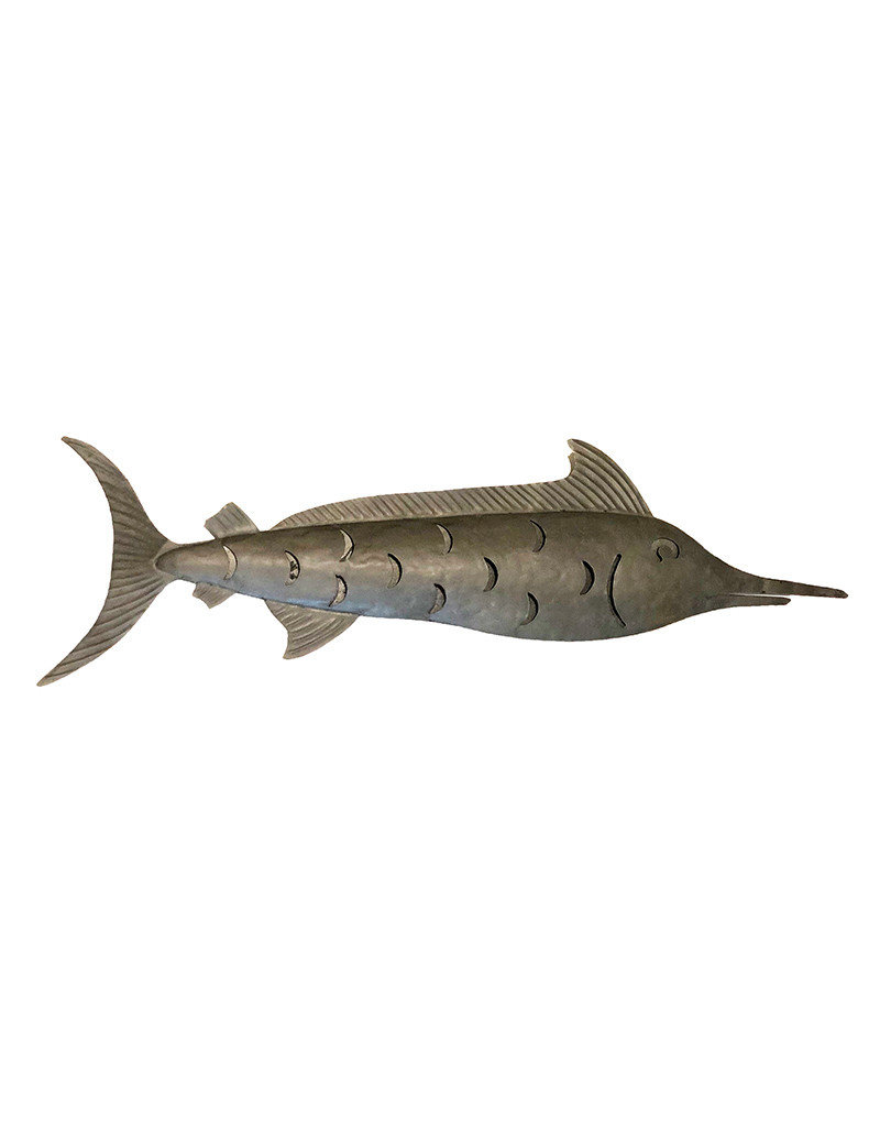 Galvanized Metal Marlin Large