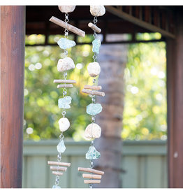 Rocky Stone & Glass Garland with Driftwood