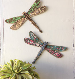 Set of 2 Wooden Dragonflies