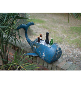 Reclaimed Metal Whale Cooler/Planter