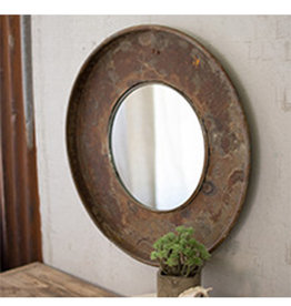 Repurposed Metal Top with Mirror