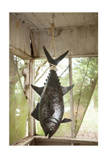 Recycled Metal Tuna on Rope