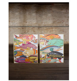 Paintings of Colorful Fish Set of 2